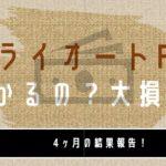 【4ヶ月目】大損!?FX初心者がトライオートFXで50万円で運用してみた実績公開【FX自動売買】